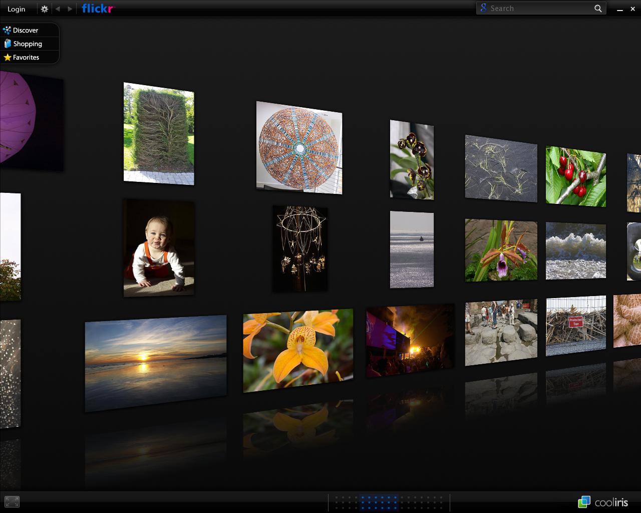 Viewing images using Cooliris