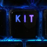 KIT written on a lighted keyboard key